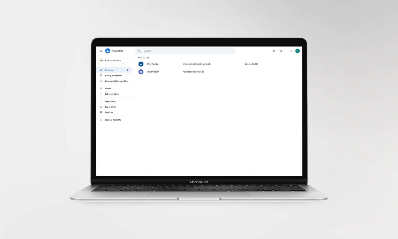 Kontakte importieren   eMailChef.de