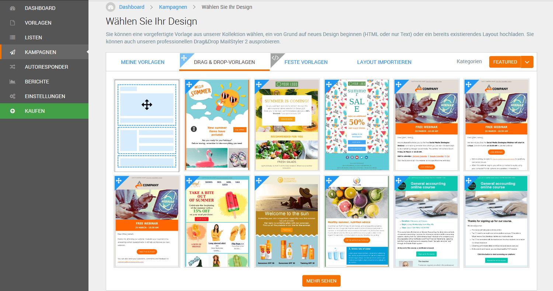 eMailChef Vorlagen Designs