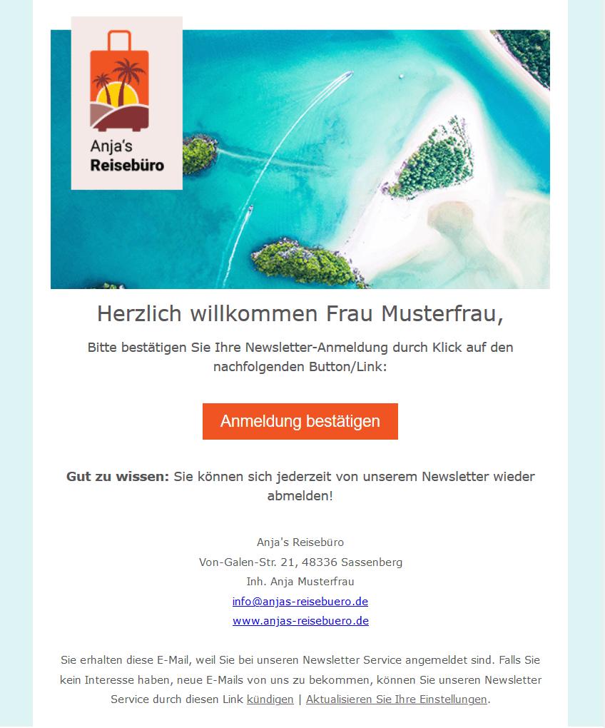 Double Opt-In für E-Mail Marketing - Bestaetigungsmail eMailChef