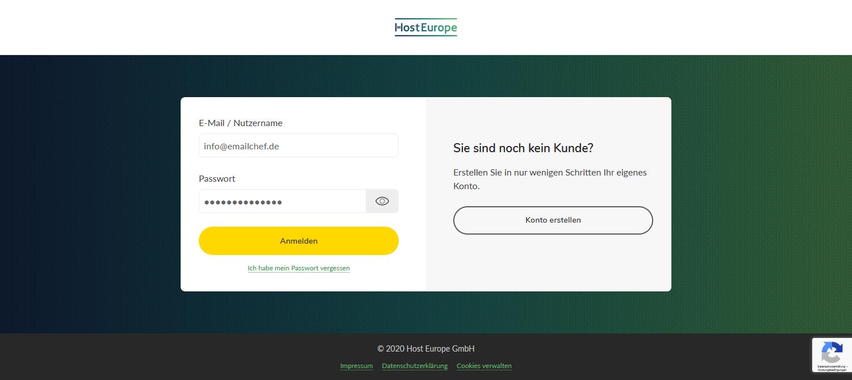 Login Kundenzugang Host Europe