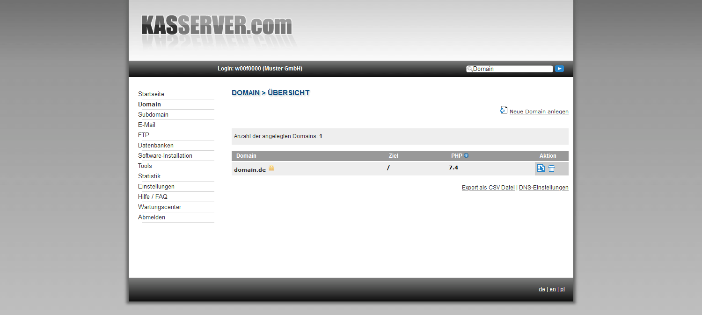 Domainübersicht all-inkl.com
